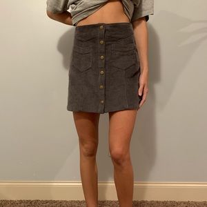 Dresses & Skirts - grey suede mini skirt